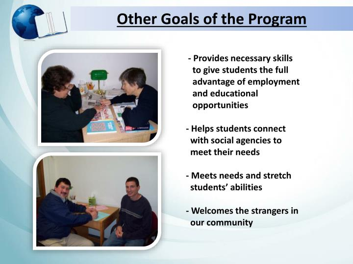 Other Goals of the Program