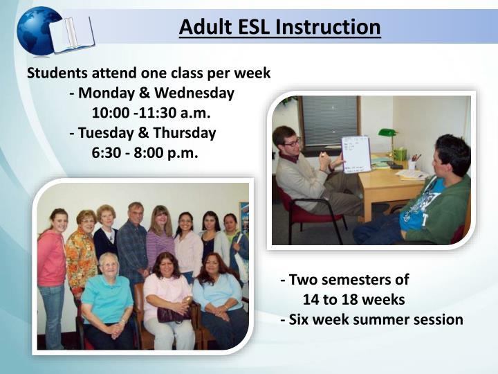 Adult ESL Instruction