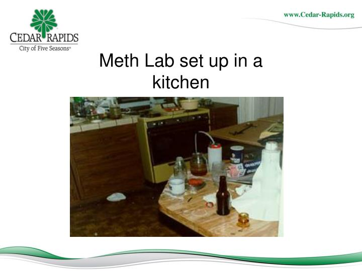 Meth Lab set up in a