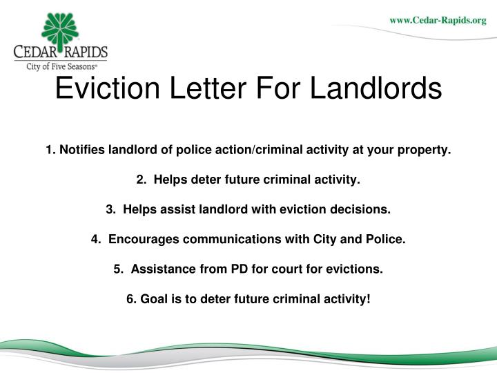 Eviction Letter For Landlords