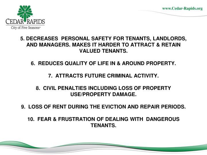 5. DECREASES