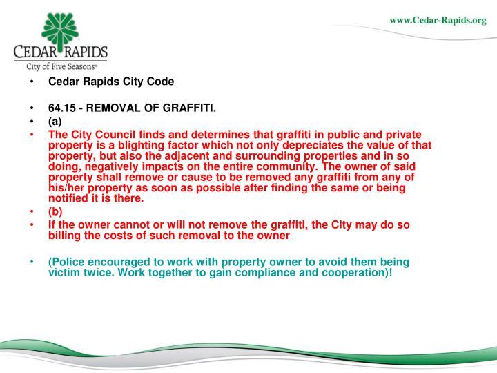 Cedar Rapids City Code