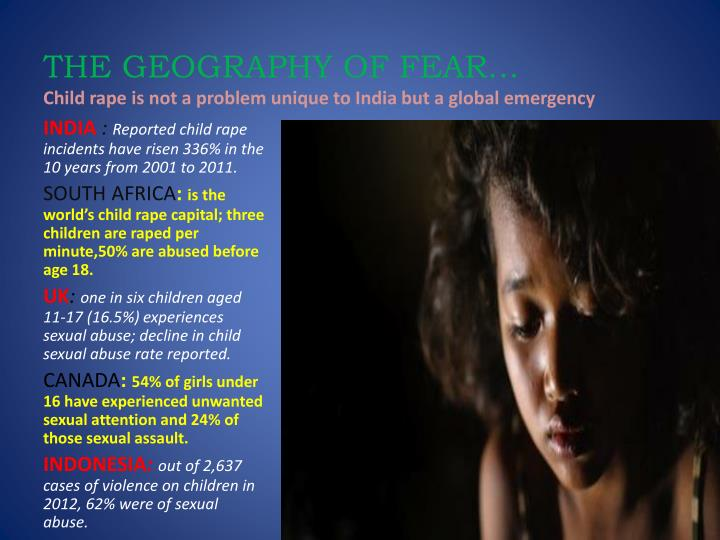 THE GEOGRAPHY OF FEAR…