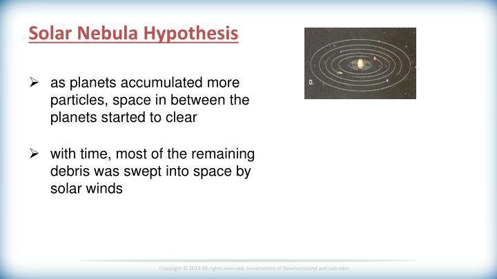 Solar Nebula Hypothesis