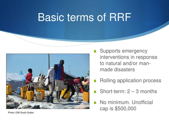 Basic terms of RRF