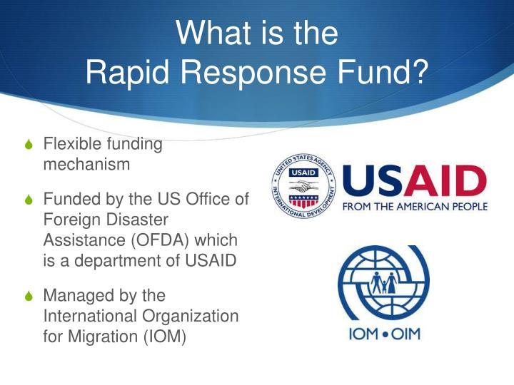 What is the rapid response fund