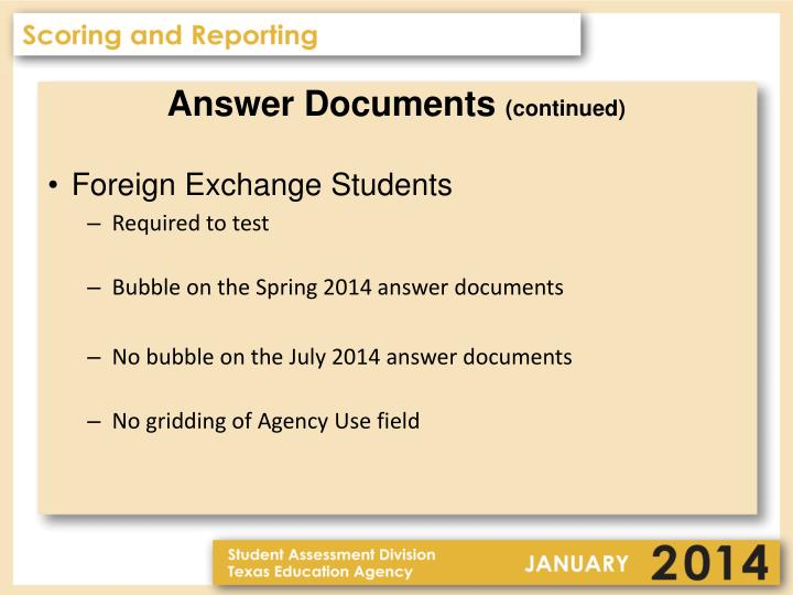 Answer Documents