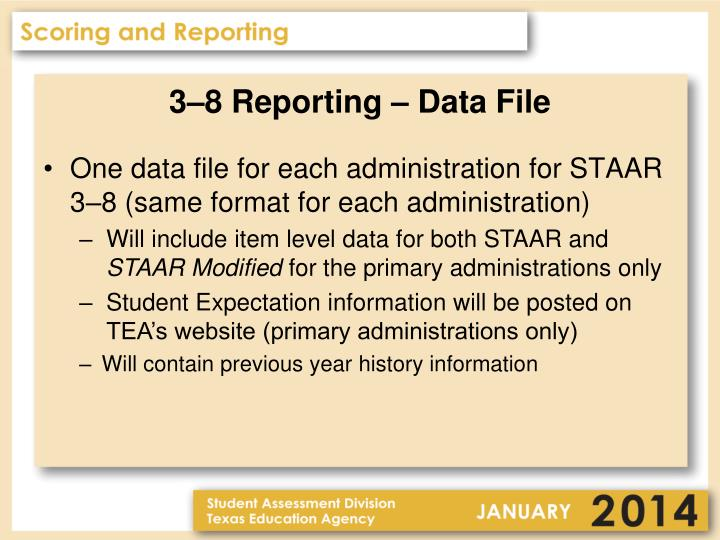 3–8 Reporting – Data File