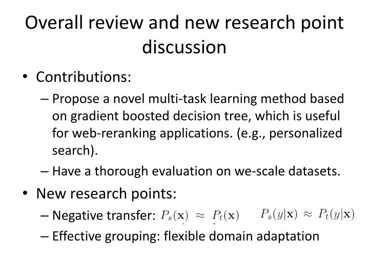 Overall review and new research point discussion