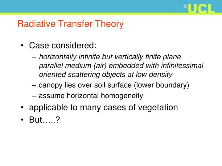 Radiative Transfer Theory