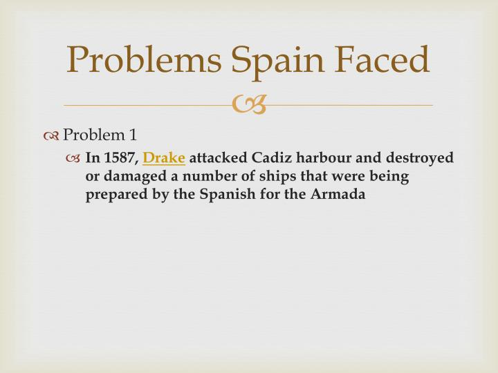 Problems Spain Faced