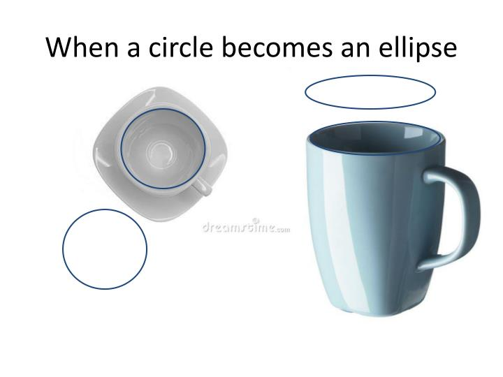 When a circle becomes an ellipse
