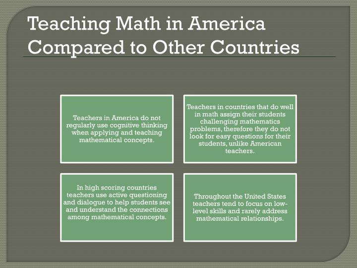 Teaching Math in America Compared to Other Countries