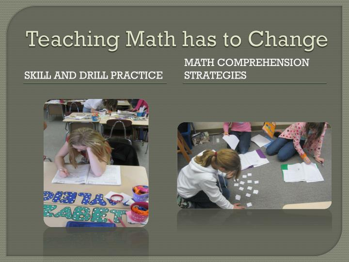 Teaching math has to change