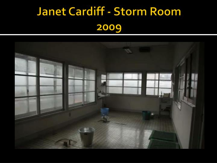 Janet cardiff storm room 2009