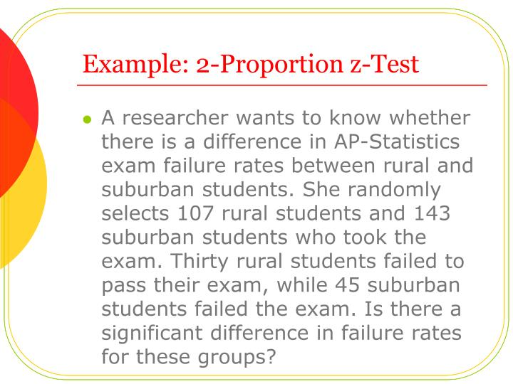Example: 2-Proportion z-Test