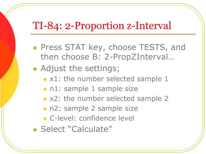 TI-84: 2-Proportion z-Interval
