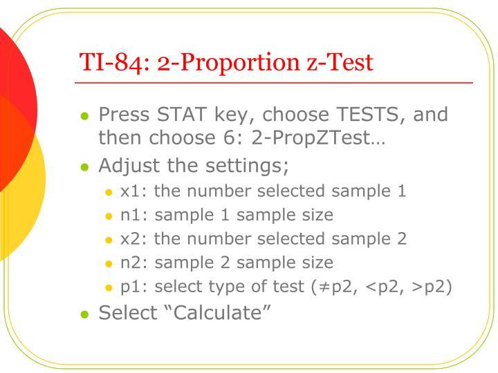 TI-84: 2-Proportion z-Test