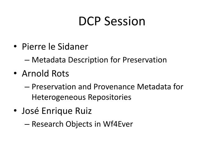 Dcp session