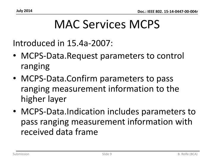 MAC Services MCPS