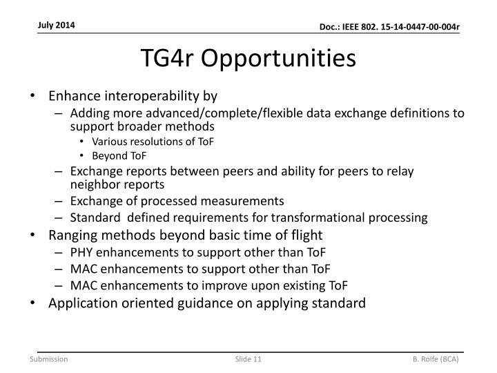 TG4r Opportunities
