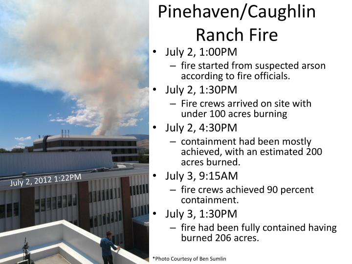 Pinehaven caughlin ranch fire