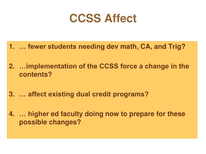CCSS Affect