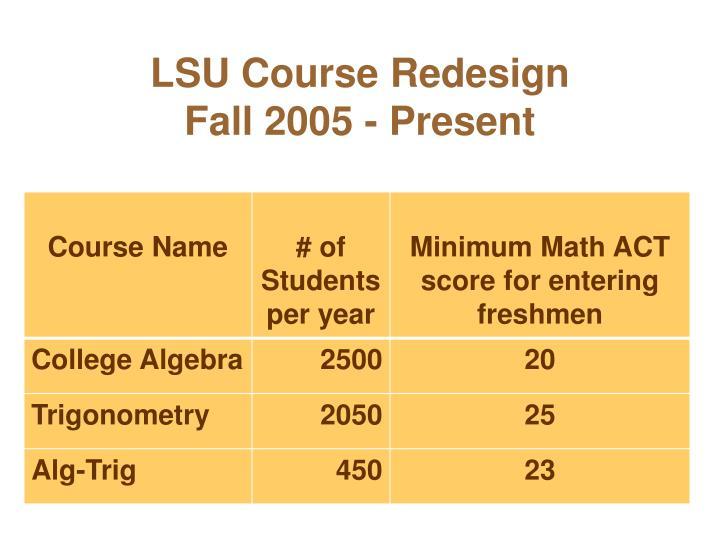 LSU Course Redesign