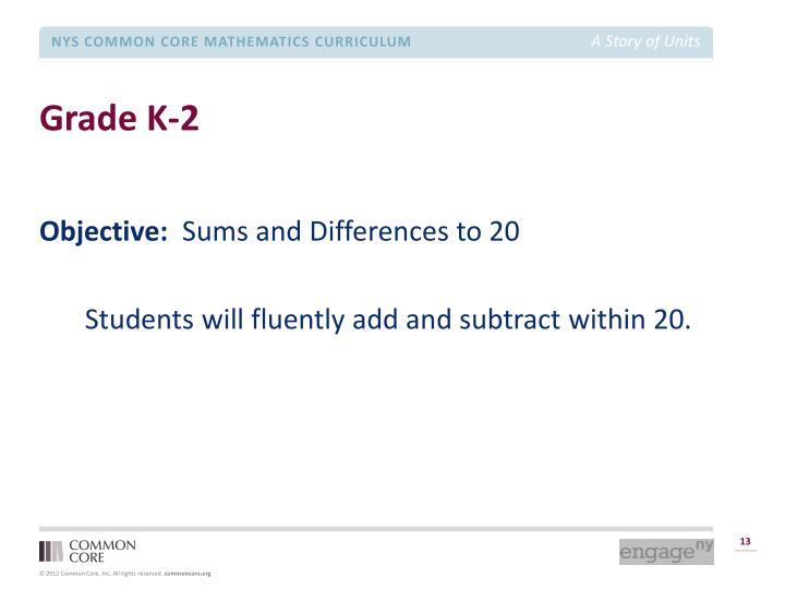 Grade K-2