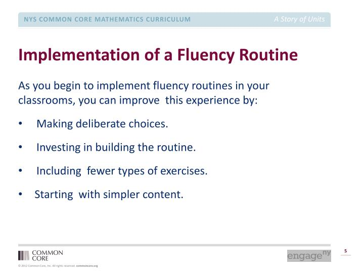 Implementation of a Fluency Routine