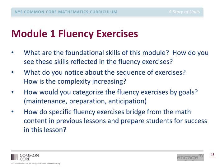 Module 1 Fluency Exercises