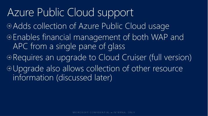 Azure Public Cloud support