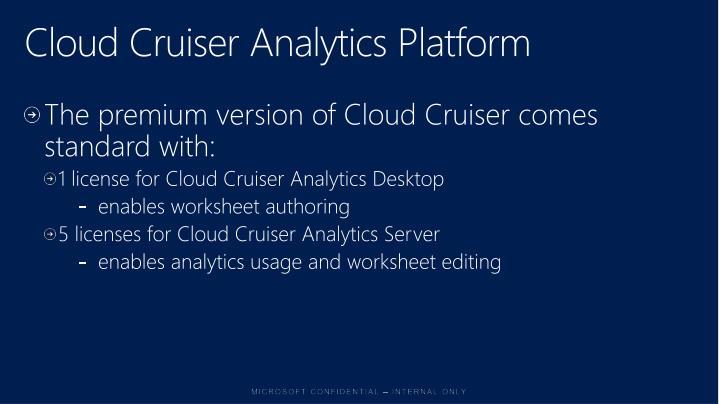 Cloud Cruiser Analytics Platform