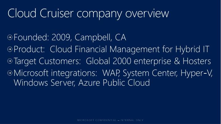 Cloud Cruiser company overview