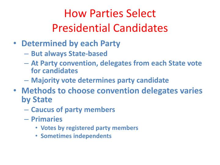 PPT - The American Presidential Election Process ...
