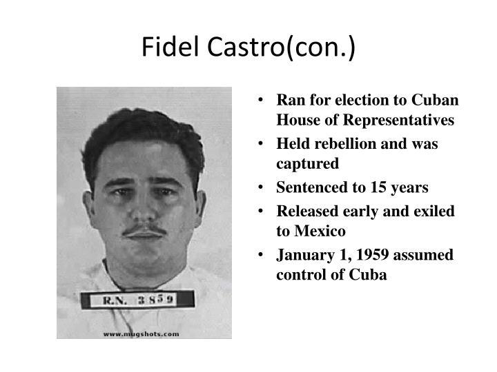 Fidel Castro(con.)