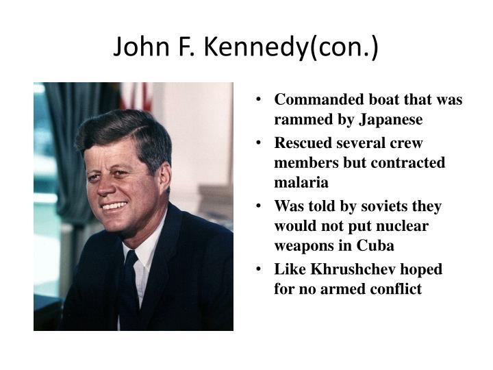 John F. Kennedy(con.)