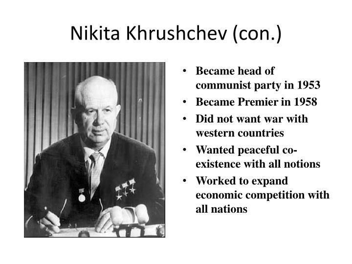 Nikita Khrushchev (con.)
