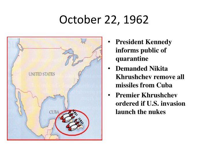 October 22, 1962