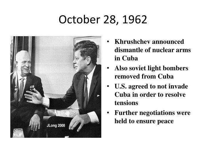 October 28, 1962