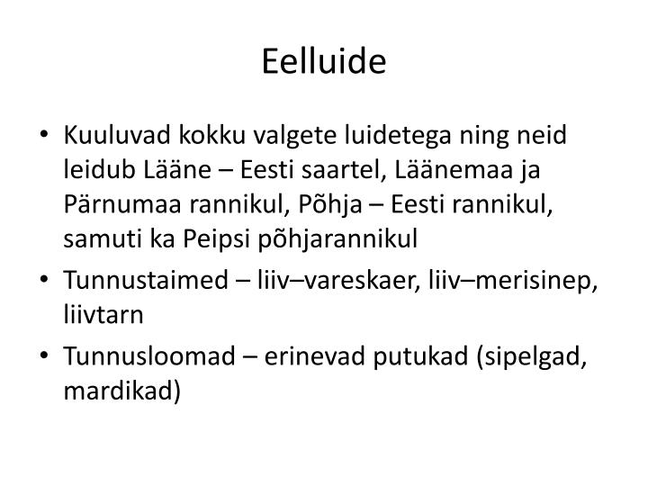 Eelluide