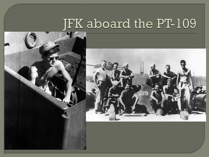 JFK aboard the PT-109