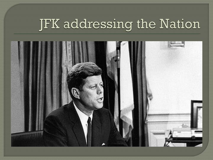 JFK addressing the Nation