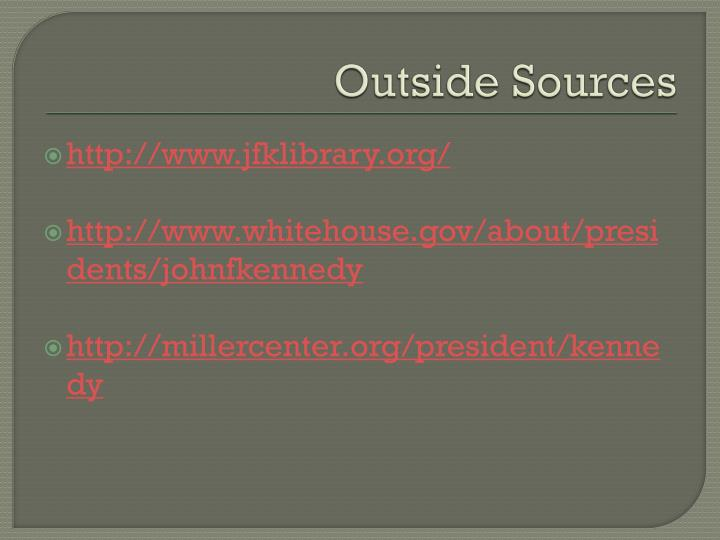 Outside Sources