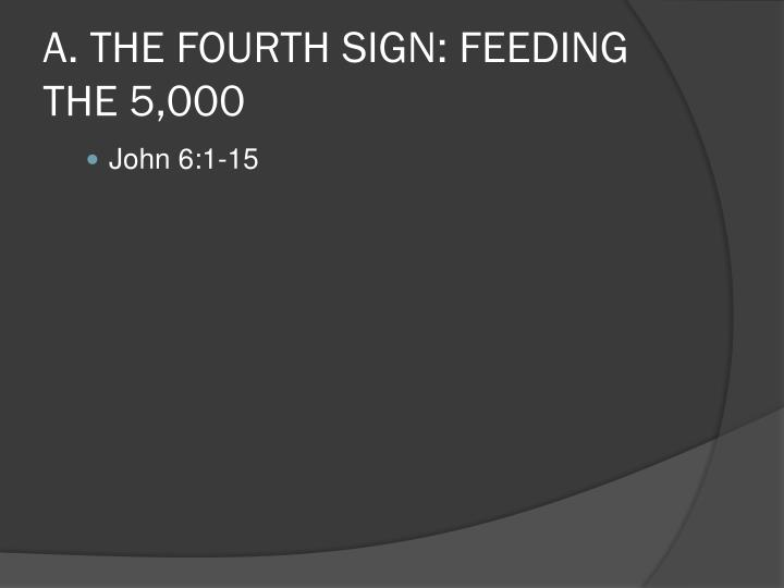 A. THE FOURTH SIGN: FEEDING THE 5,000