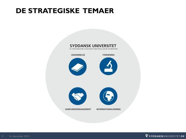 De strategiske  temaer