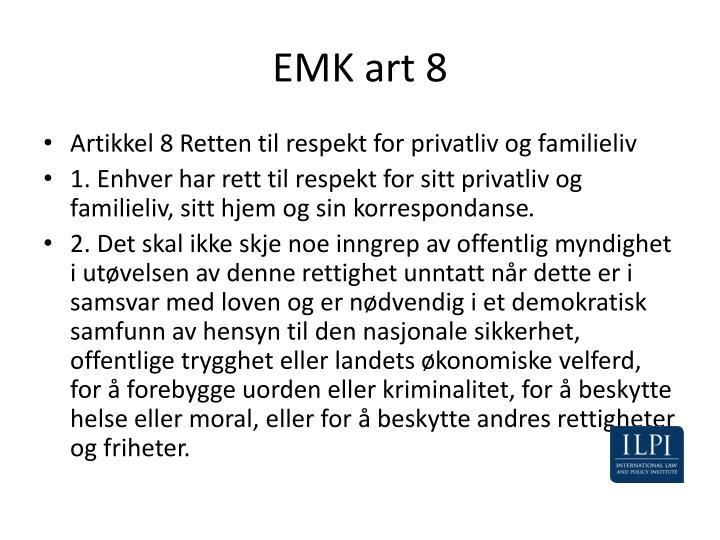 EMK art 8