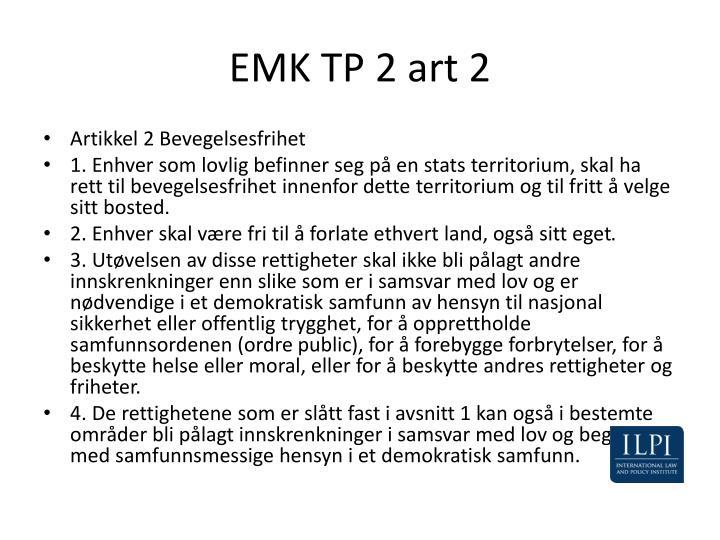EMK TP 2 art 2
