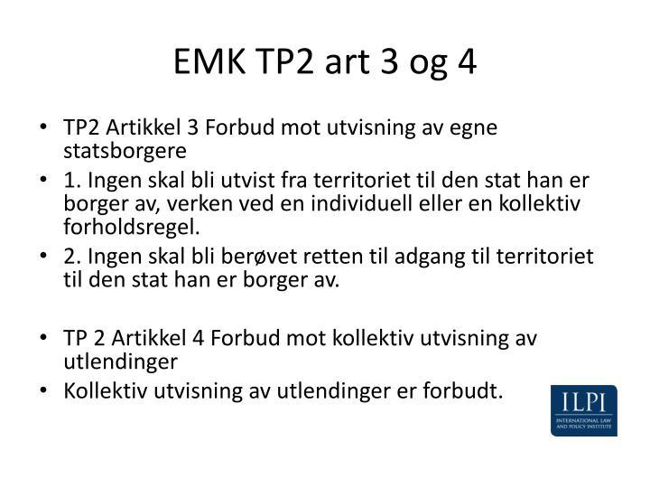 EMK TP2 art 3