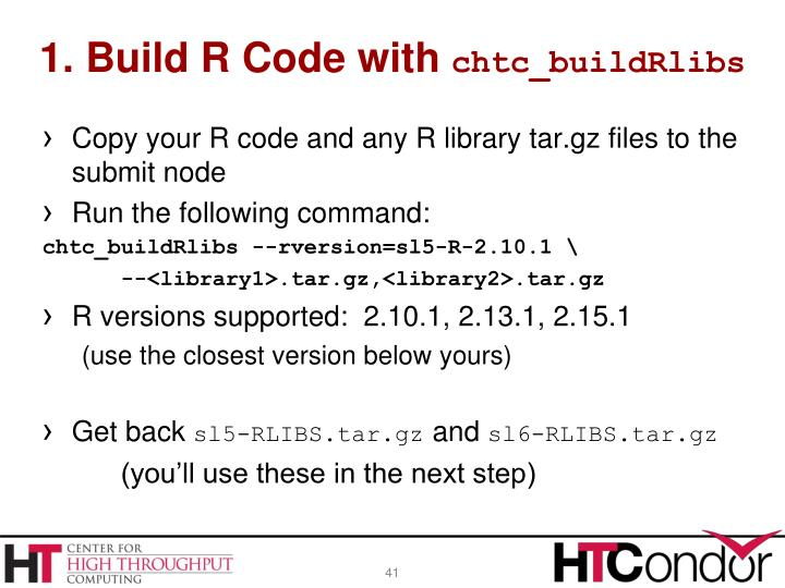 1. Build R Code with